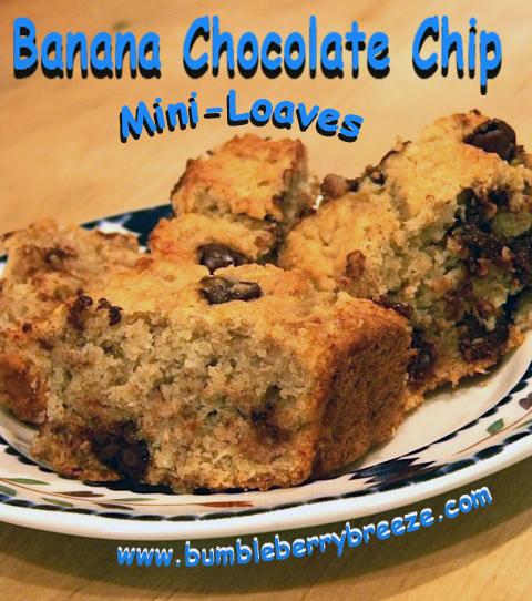 Banana Choc chjip mini-liaves