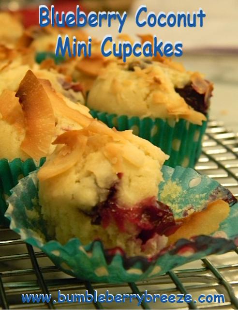 Blueberry Coconut mini cupcakes