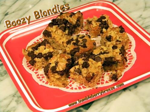 Boozy Blondies
